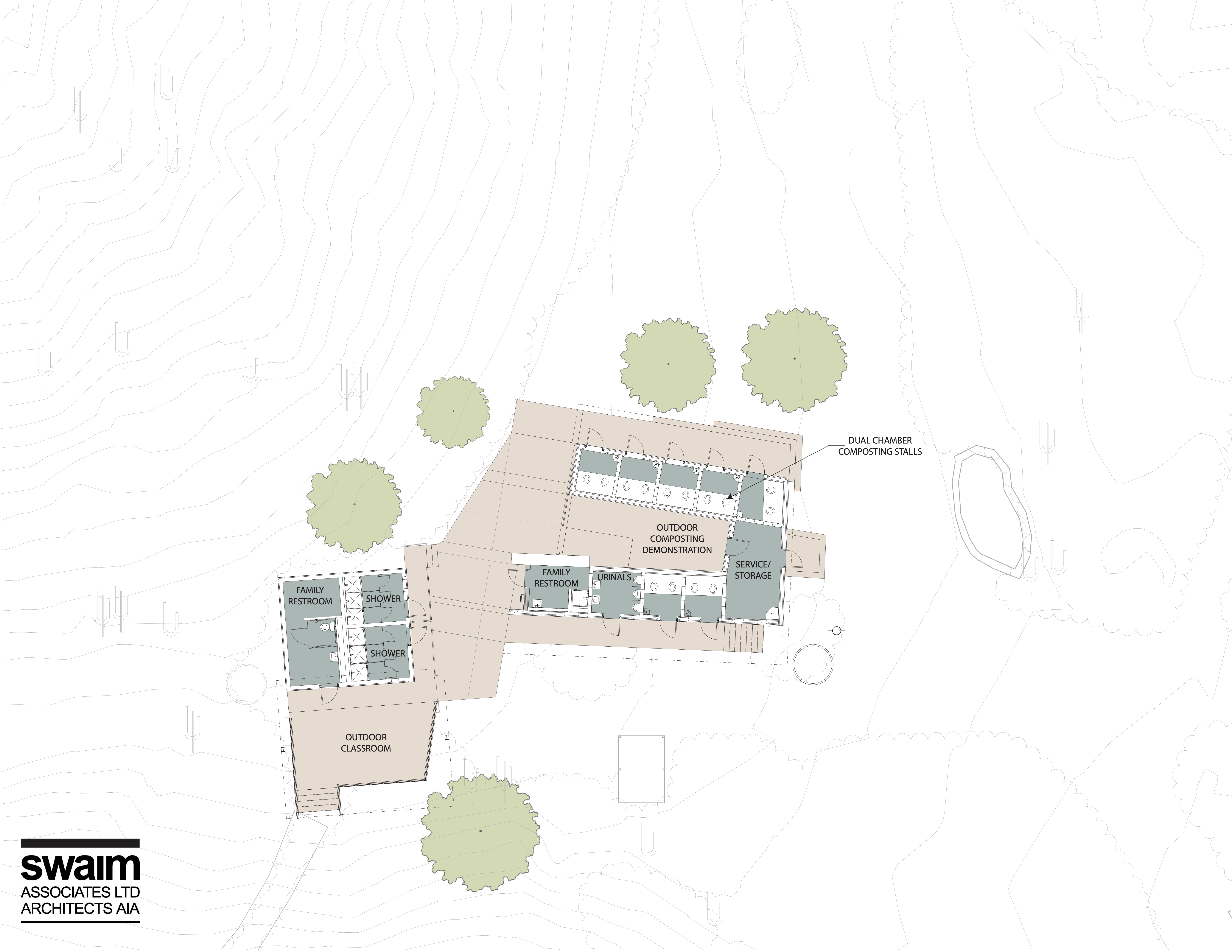 An aerial site plan shows building layout.