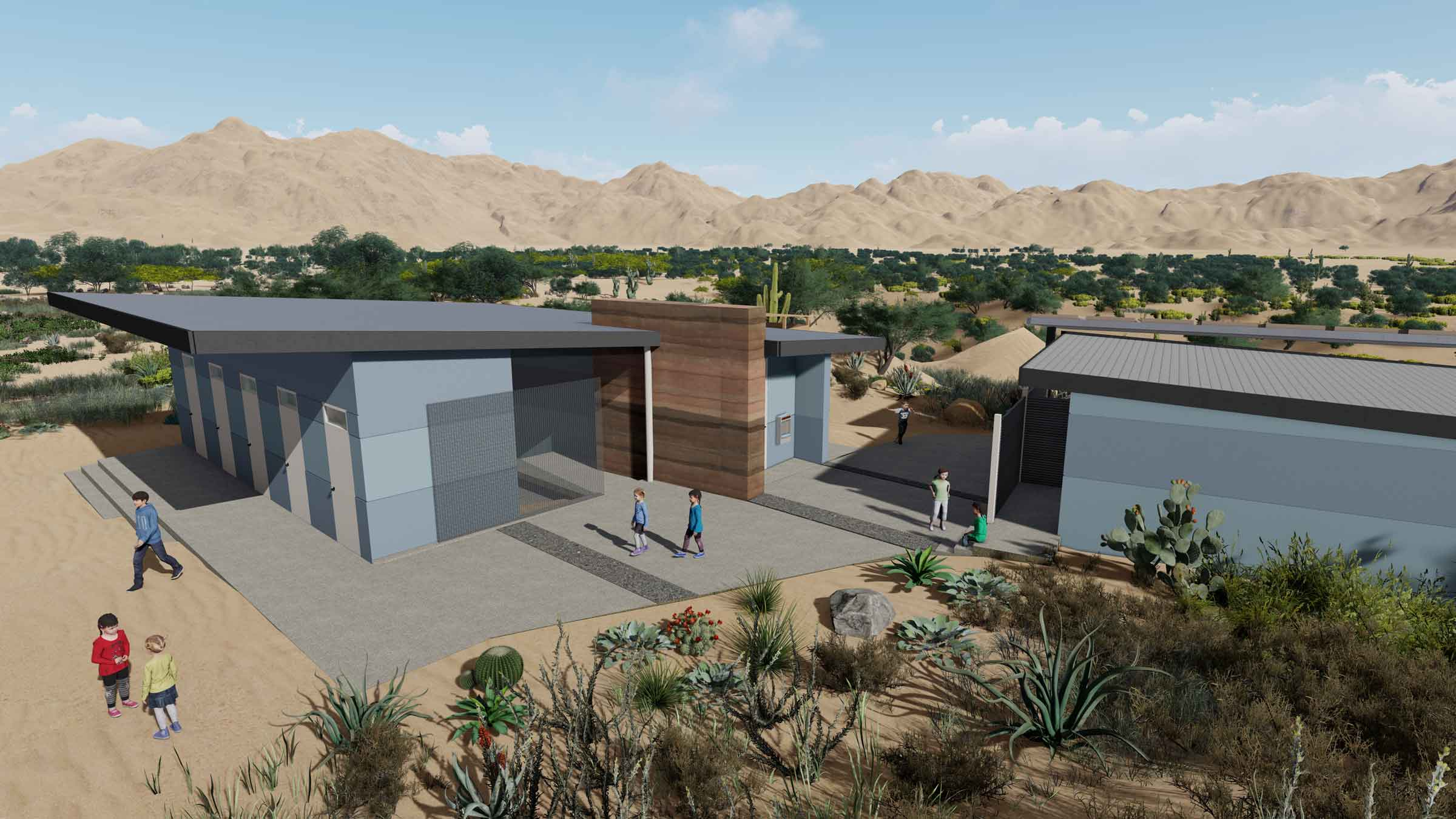The Bathroom & Shower Complex will increase capacity to serve students and their families, and is Ph